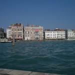 Blick von San Giorgio aus nach Venedig