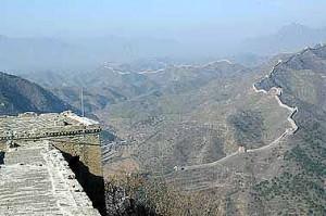Die Chinesische Mauer, gigantisch